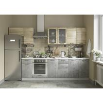 Кухня Лофт Шкаф верхний горизонтальный стекло ПГС 500 / h-350 / h-450, фото 9