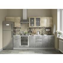 Кухня Лофт Шкаф верхний горизонтальный стекло ПГС 600 / h-350 / h-450, фото 7