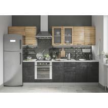 Кухня Лофт Шкаф верхний горизонтальный стекло ПГС 600 / h-350 / h-450, фото 8