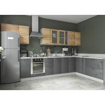 Кухня Лофт Шкаф верхний угловой стекло ПУС 550*550 / h-700 / h-900, фото 7