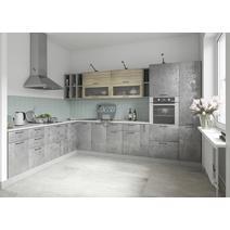 Кухня Лофт Шкаф верхний угловой стекло ПУС 550*550 / h-700 / h-900, фото 11