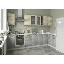 Кухня Лофт Шкаф верхний угловой стекло ПУС 550*550 / h-700 / h-900, фото 5