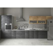 Кухня Лофт Шкаф верхний горизонтальный стекло ПГС 600 / h-350 / h-450, фото 11