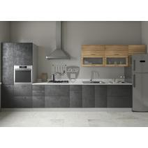 Кухня Лофт дуб цикрий / бетон темный