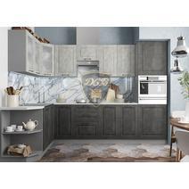 Кухня Капри Шкаф верхний угловой стекло ПУС 550 / h-700 / h-900, фото 9