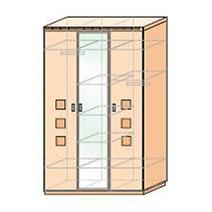 Кэри Голд Шкаф 3-дверный с зеркалом, фото 2