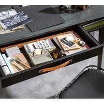 Dark Metal Стол компьютерный с надставкой, фото 4