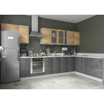 Кухня Лофт дуб цикорий / бетон темный