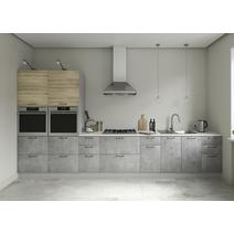 Кухня Лофт дуб майский / бетон светлый