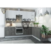 Кухня Капри липа белая / липа пепел