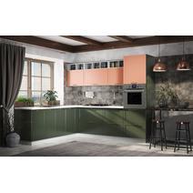 Кухня Квадро персик / оливковый