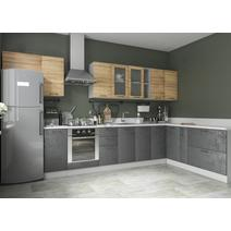 Кухня Лофт Шкаф верхний горизонтальный стекло ПГСФ 600 / h-350 / h-450, фото 4