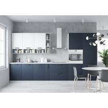 Кухня Ройс белый софт/черника софт