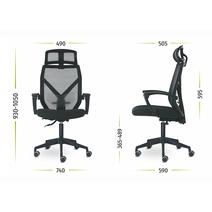 Кресло офисное Астон М-711 PL-white / серый, фото 11