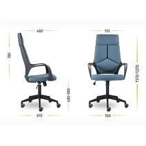 Кресло офисное Айкью М-710 PL-black / М-54, фото 6
