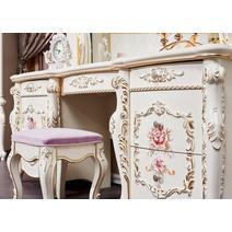 Венеция Classic Туалетный стол с зеркалом и пуфом, фото 2
