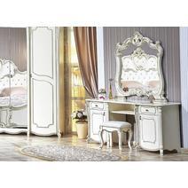 Лорена Столик туалетный с зеркалом и пуфом, фото 1