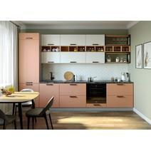 Кухня Ройс белый софт/персик софт