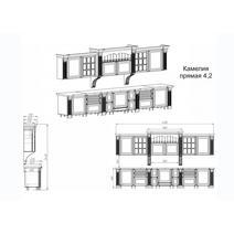 Камелия Кухонный гарнитур 4200 / 4 стекла, фото 4