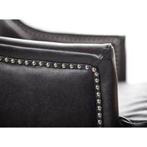 Дизайнерские кресла из кожи Chester black leather, фото 5
