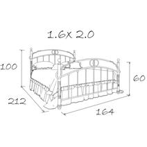 Кровать кованая Аристо 1.6, фото 5