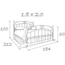 Кровать кованая Аристо 1.8, фото 5