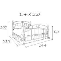 Кровать кованая Атланта 1.4, фото 5
