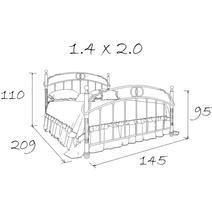 Кровать кованая Афина 1.4 / 2 спинки, фото 6