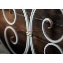 Кровать кованая Валенсия 1.6 / 2 спинки, фото 10