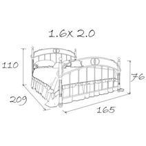 Кровать кованая Валенсия 1.6 / 2 спинки, фото 4