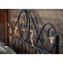 Кровать кованая Венеция 1.4 / 2 спинки, фото 10