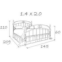 Кровать кованая Венеция 1.4 / 1 спинка, фото 4