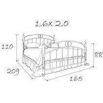 Кровать кованая Венеция 1.6 / 2 спинки, фото 7