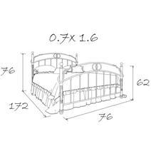 Кровать кованая Аристо kids 0.7х1.6, фото 4