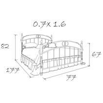 Кровать кованая Бабочка 0.7х1.6, фото 5