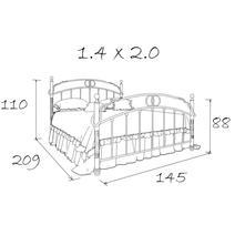 Кровать кованая Кармен 1.4 / 2 спинки, фото 6