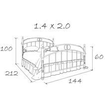 Кровать кованая Лоренцо 1.4, фото 20