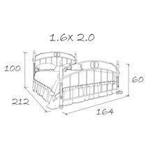 Кровать кованая Лоренцо 1.6, фото 20