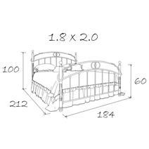 Кровать кованая Лоренцо 1.8, фото 20