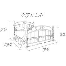 Кровать кованая Лоренцо kids 0.7х1.6, фото 13