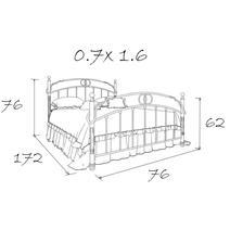 Кровать кованая Мадлен 0.7х1.6, фото 5