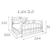 Кровать кованая Ринальди 1.6, фото 11