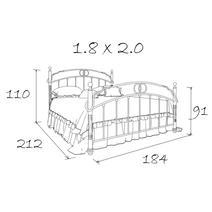 Кровать кованая Ринальди 1.8, фото 11