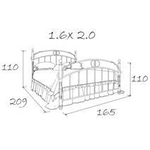 Кровать кованая Сандра 1.6 / 2 спинки, фото 10