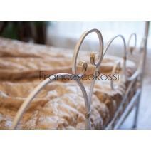Кровать кованая Флоренция 1.4 / 2 спинки, фото 4