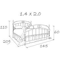 Кровать кованая Флоренция 1.4 / 1 спинка, фото 9