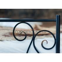Кровать кованая Лацио 1.4 / 2 спинки, фото 6