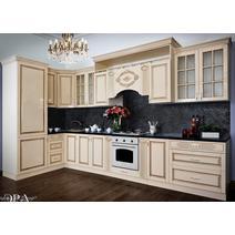 Кухня Верона секция 800 навесная 2-створчатая с полкой, фасад со стеклом, фото 4