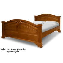 Кровать Леонсия резьба 900/1200/1400/1600/1800, фото 1