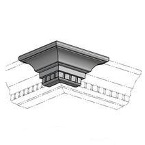 Кухня Кантри Багет с фризом прямой в ПВХ пленке 2,4 м, фото 1